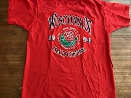 1994 Wisconsin Badgers NCAA Rose Bowl T Shirt Mens XL Sz Fruit Loom USA made - $16.14