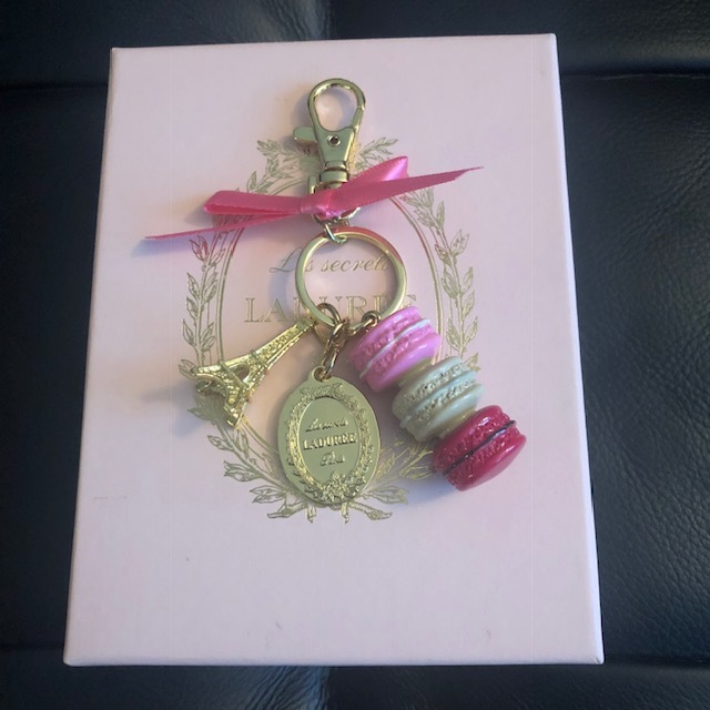 BRAND NEW Authentic Rare/Limited Edition Laduree Pink Macaron Keychain