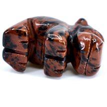 Mahogany Obsidian Gemstone Tiny Miniature Hippo Figurine Hand Carved in China image 6