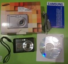 Black Samsung SL40 12.2 MP 3x Optical Zoom Digital Camera With 4 GB Card  - $42.08
