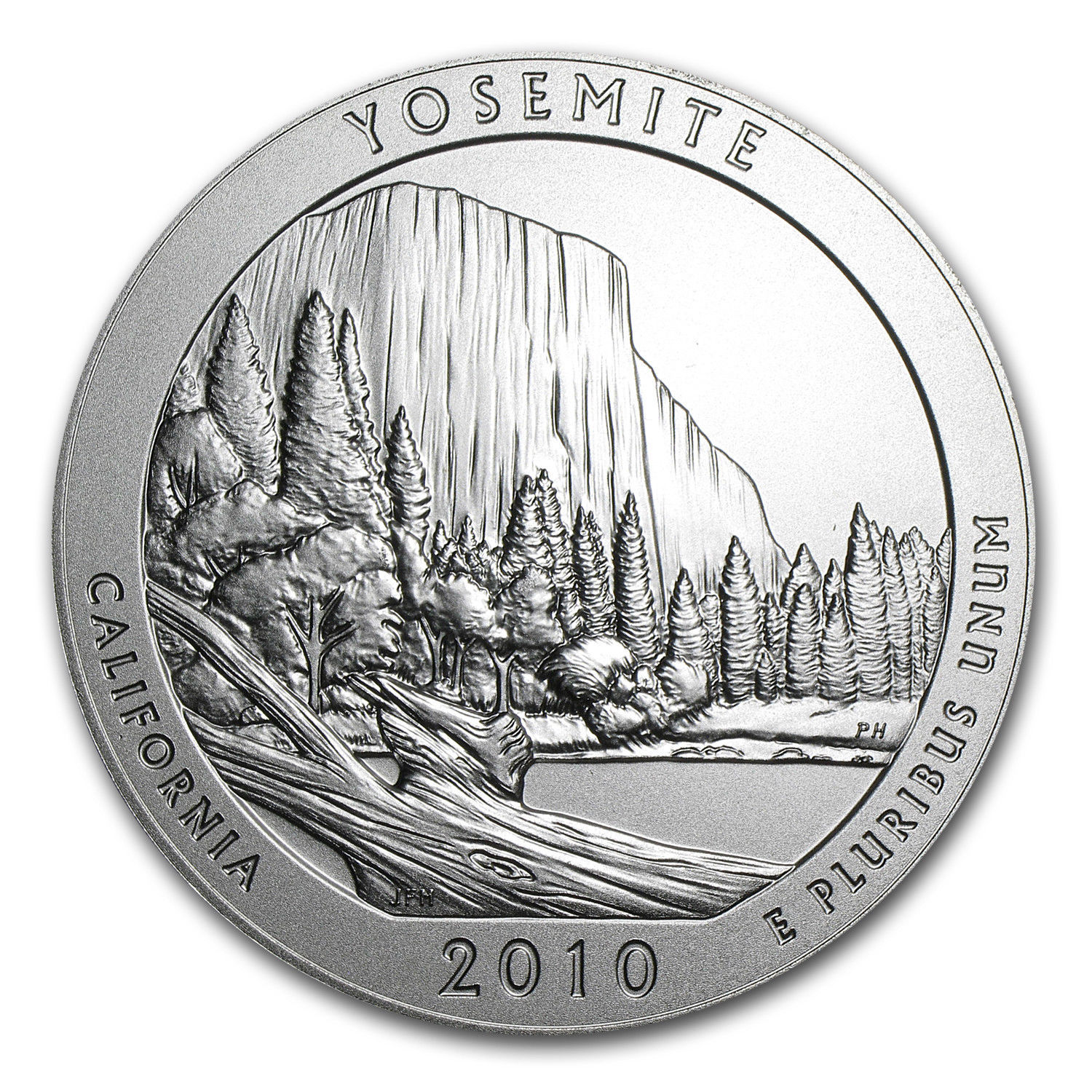 2010 P 5 oz Silver ATB Yosemite National Park .999 Silver First Year Of Issue