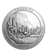 2010 P 5 oz Silver ATB Yosemite National Park .999 Silver First Year Of ... - $329.95
