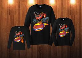 Blaze Birthday Long Sleeve Shirt Personalized Custom Family Black shirts B2 - $24.95+