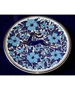 Hand Made   DECORATIVE BLUE REINDEER PLATE   Manousakis-Keramik-Rodos Gr... - $18.99