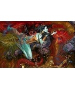 Fantasy Mermaid Home Decor Canvas Print A1 Size (841 x 594mm) - $14.81