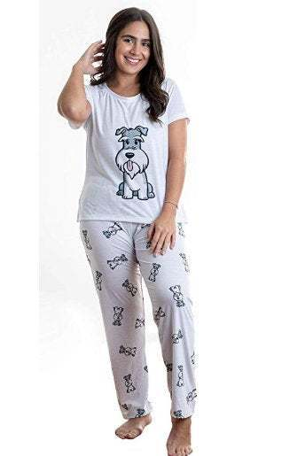 Primary image for Dog Schnauzer pajama set with pants for women