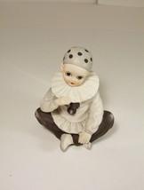 Pierrot Clown Sitting Rotating Music Box Vintage Mann 1982 - $19.99
