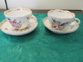 """S"" Germany Porcelain - 2 Cups And Saucers - $15.99"