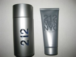 212 Men By Carolina Herrera 3.4oz Edt Spray + 212 Men After Shave Gel - Unboxed - $59.95