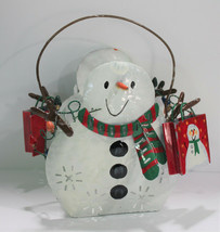 Department 56 Metal Snowman Candle Holder Indoor Outdoor - $17.27