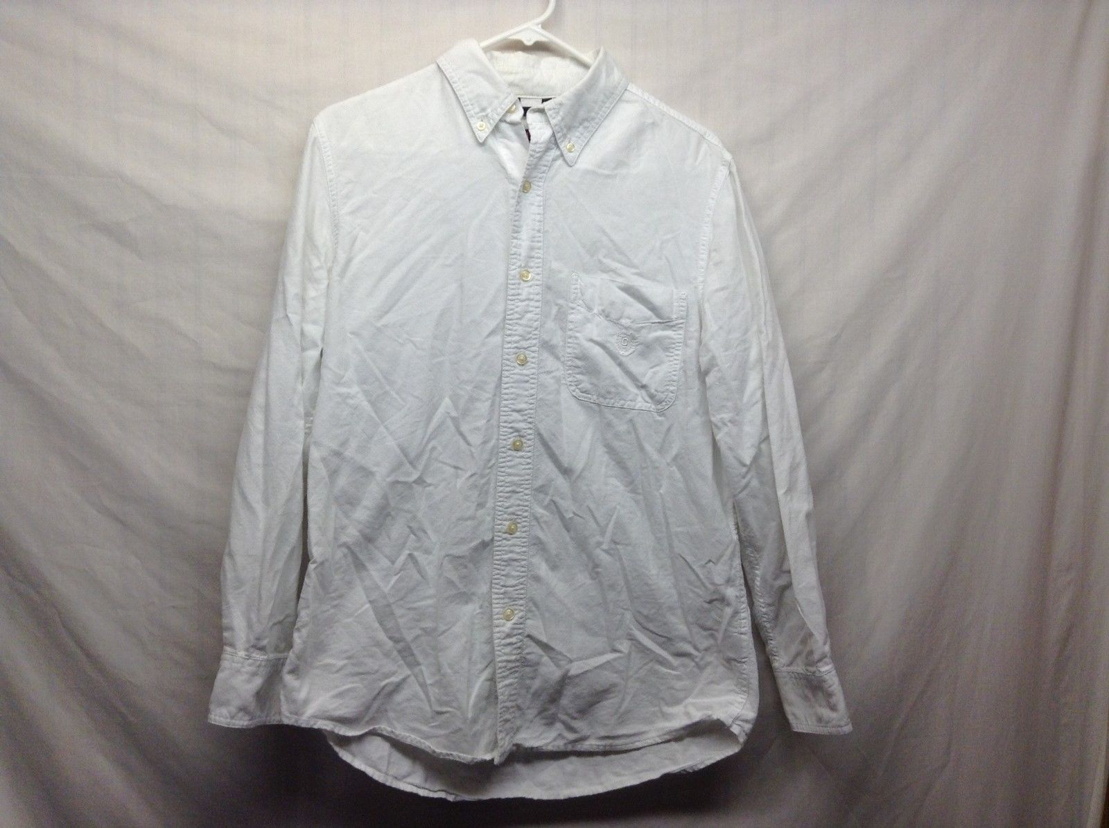 CHAPS White Collared Button Up Shirt Sz S/P/CH