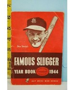 1944 Famous Slugger Yearbook Hillerich & Bradsby Stan Musial Cover War B... - $15.79