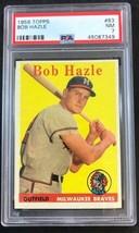 1958 Topps #83 Bob Hazle PSA 7 NEAR MINT Baseball Card - $19.75