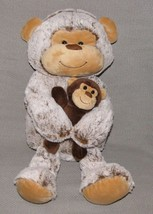 Animal Adventure Plush Brown Tan Monkey Mom & Baby Plush 2018 Stuffed Toy - $47.02