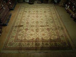 New Smooth Wool Authentic Handmade 10' x 14' Beige Jaipur Wool Rug image 4