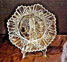 Glass Bowl with Detailed Fruit Etched Design AA18-11910 VintageHeavy image 6