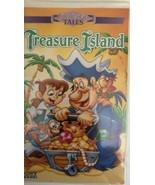 TREASURE ISLAND(VHS 1996)animated LV 49793-VERY RARE CLAMSHELL CASE-SHIP... - $165.10