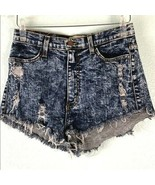 Vibrant MIU Womens Juniors Sz Large Shorts Acid Wash Distressed Destroye... - $32.71