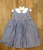 $120.00 Ralph Lauren Sleeveless Bengal-Striped Poplin Dress W Bloomers 1... - $68.31