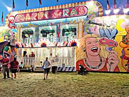Carnival Fun house abstract printable wall art ... - $7.99