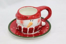 Snowman Xmas 4 Cups and 4 Saucers image 2