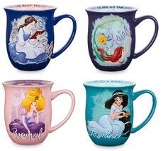Disney Store Princess Story Mug Ariel Belle Rapunzel Ariel 2017 - $69.95