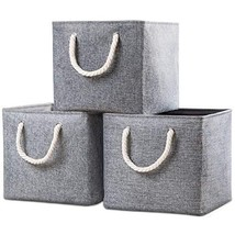 Prandom Large Foldable Cube Storage Baskets Bins 12.8x12.8 inch [3-Pack]... - $34.94