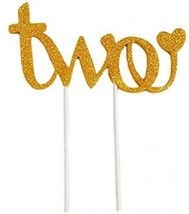 Second Birthday New Design Handmade Cake Topper -'Two'- For Sweet Heart... - $20.06