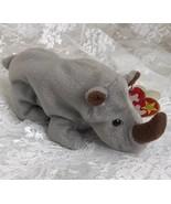 """1996 TY Retired Beanie Rhinosaurus  """"Spike"""" 8"""" - $8.59"""