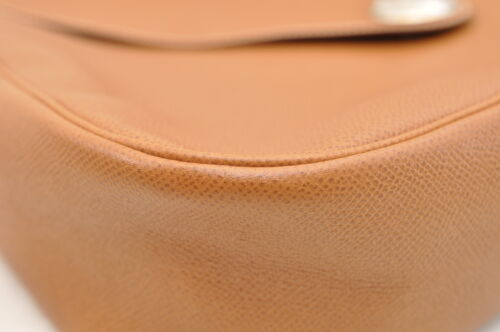 HERMES Christine Shoulder Bag Leather Brown Auth 5676 image 9