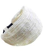 Fold Lace Headband Fashion Hairband Wide Headwrap Hair Accessories(Beige) - $19.73
