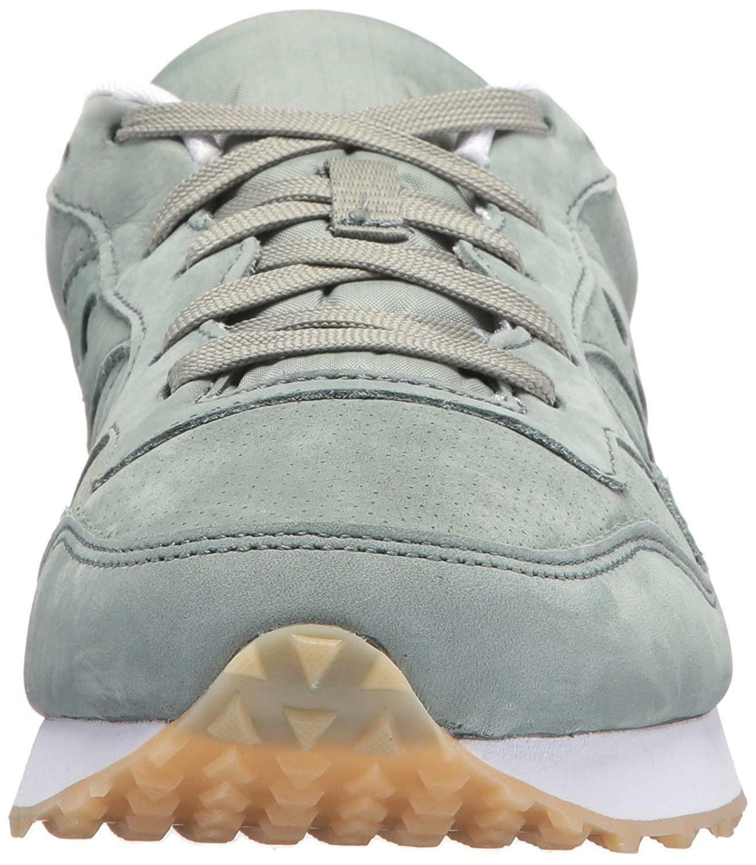 Saucony Originals da Uomo Verde pelle Nubuck Dxn Trainer CL Corsa Sneaker Scarpe
