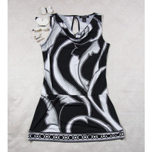 WHITE HOUSE BLACK MARKET sz S womens cowl neck tunic top EUC (UA13) - $9.90