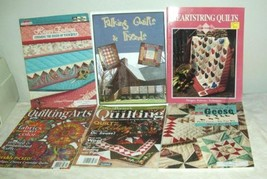 Lot of 6 Quilt Quilting Books Magazines Patterns Arts Geese Edge Finishing - $8.99