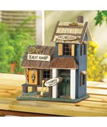 Birdhouse Bass Lake Lodge Eucalyptus Wood Yard and Garden Decor Brand New - $28.95
