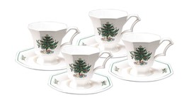 Nikko Christmastime Tea Cup and Saucer, Set of 4 JAPAN NEW IN THE BOX - $59.39