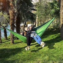Kingterence Double Camping Hammock, Portable Parachute Lightweight Nylon... - $41.98