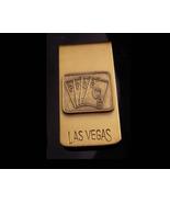 Gambling money clip - Las Vegas - vintage gambler gift - lucky Casino 4 ... - $75.00