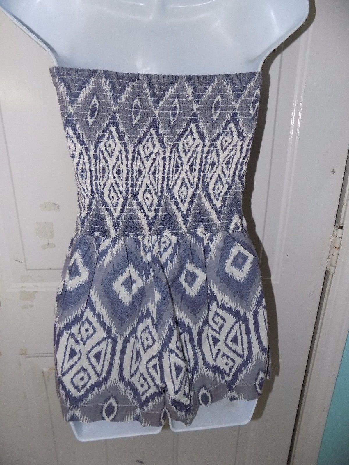 Charlotte Russe Purple Design Romper Size S Women's EUC