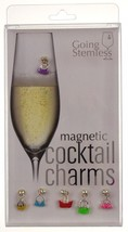 Going Stemless Handbag Wine Charms Cocktail Magnetic Set 6 Drink Purse X... - $39.99
