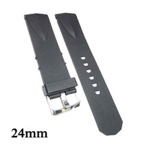New Compatible Corum Admiral's Cup 24mm Black Diver Rubber Watch Strap - $19.99
