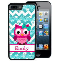 PERSONALIZED CASE FOR iPHONE XR XS MAX X 8 7 6 PLUS RUBBER PINK OWL BLUE... - $13.95