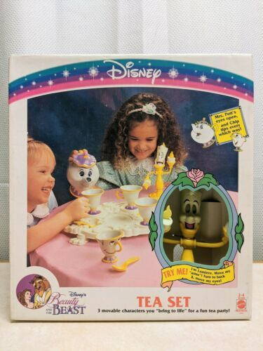 Primary image for Rare Vintage 1993 Disney's Beauty And The Beast Tea Set For Four Unopened Box