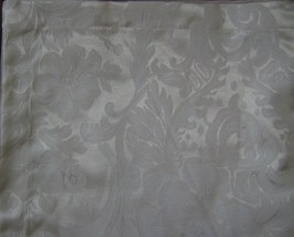"Waterford Kingsley Napkins SET/8 20"" X 20"" Square Cotton Blend Ivory Floral New - $94.40"