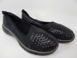 Propet TravelLite Size 7 M (B) EU 37 Women's Slip-On Woven Shoes Black W3238