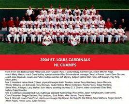 2004 ST. LOUIS CARDINALS 8X10 TEAM PHOTO BASEBALL PICTURE LEAGUE CHAMPS MLB - $3.95