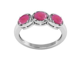 Indicolite Ruby Gemstone 925 Sterling Silver Women Love Ring - $19.12