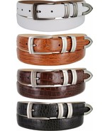"Gun Italian Calfskin Leather Designer Golf Dress Belts 1-1/8"" Wide - $29.95"