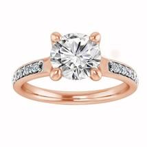 1.27 Ct Round Cut Diamond 10K Rose Gold Finish Solitaire Engagement Wedd... - $76.89