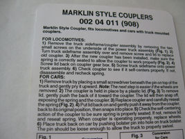 Micro-Trains Stock # 00204011 #908 Marklin Style Couplers Truck  Mount (Z Scale) image 3